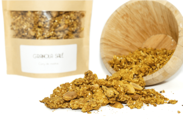 Granola curry vegan sans gluten