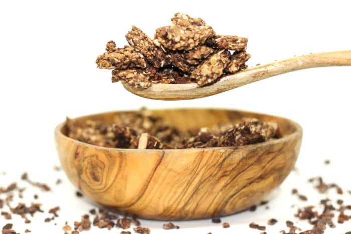 Granola intensement chocolat vegan