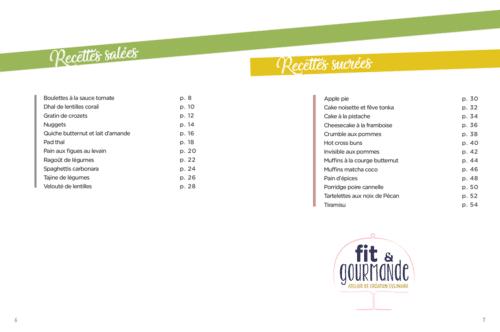 Sommaire ebook recettes