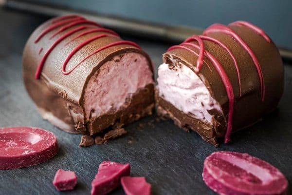 barre framboise chocolat sans lactose vegan sans gluten