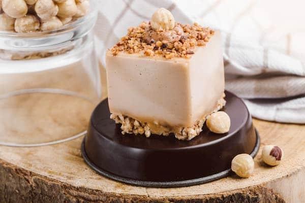 cheesecake praline vegan sans gluten sans lactose