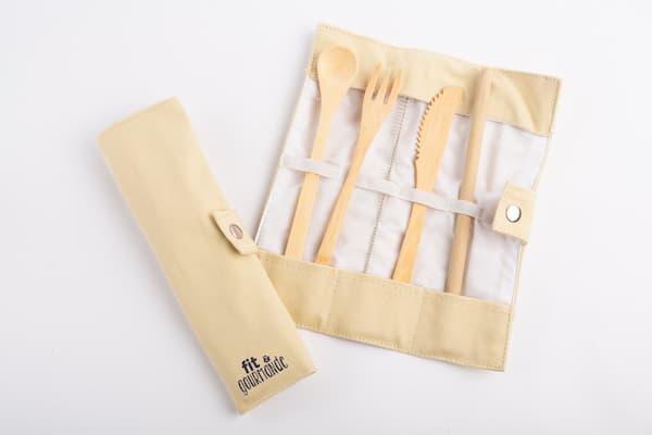 set couverts en bambou fit et gourmande