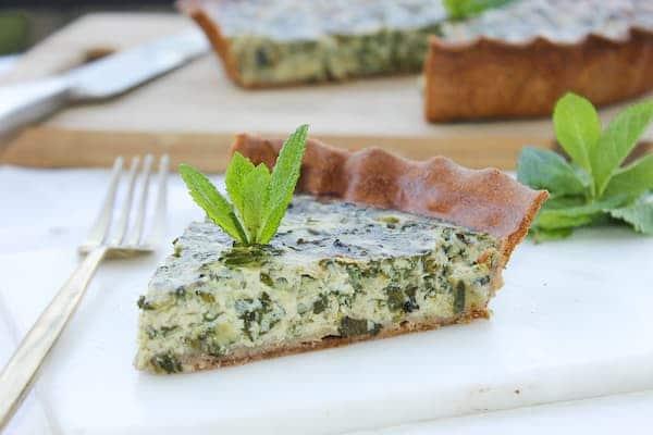 tarte à la menthe sans lactose healthy